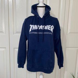 Thrasher skateboard magazine navy hoodie
